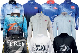 All-Fishing-Shirts-by-Daiwa-Penn-Wilson-Zerek-ZMan-Berkley on sale