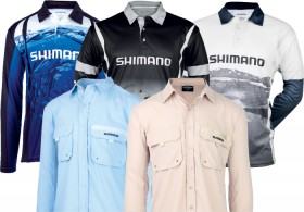 All-Fishing-Shirts-by-Shimano on sale