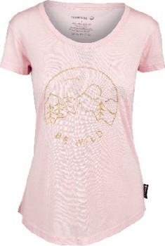Cederberg-Womens-Corespun-Merino-Short-Sleeve-Print-Tee-Pink on sale