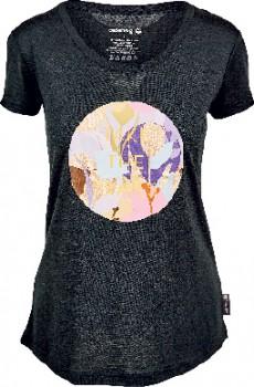 Cederberg-Womens-Corespun-Merino-Short-Sleeve-Print-Tee-Black on sale