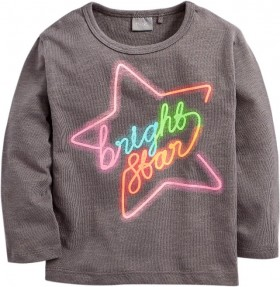 Next-Charcoal-Neon-Star-Long-Sleeve-T-Shirt on sale