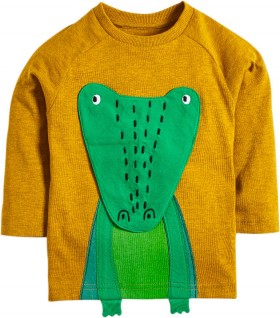 Next-Yellow-Long-Sleeve-Interactive-Crocodile-T-Shirt on sale