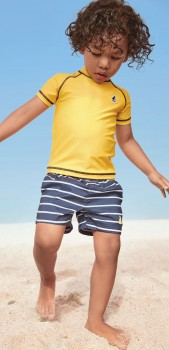 Next-Yellow-Rash-Vest-and-Swim-Shorts-Set on sale