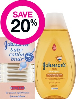 Save-20-on-Johnsons-Baby-Range on sale