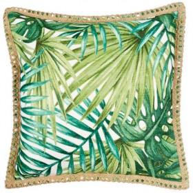 40-off-Tropics-Printed-Leaf-Cushion-45x45cm on sale
