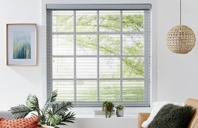 50-off-50mm-Grey-Ready-To-Hang-Faux-Wood-Venetian-Blinds on sale