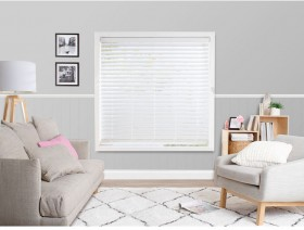 50-off-63mm-White-Ready-To-Hang-Faux-Wood-Venetian-Blinds on sale