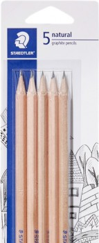 Staedtler-5-Pack-Natural-2B-or-HB-Pencils on sale