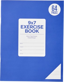 Brilliant-Basics-64-Page-9x7-Exercise-Book-8mm-Ruled on sale