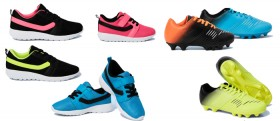 Circuit-Kids-Football-Boots-BlackOrange-YellowBlack-BlueBlack-or-Kids-Sports-Shoes on sale