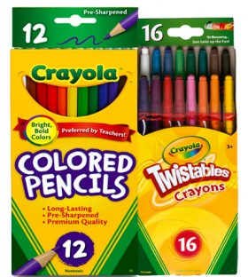 Crayola-12-Pack-Coloured-Pencils-or-16-Pack-Twistable-Crayons on sale
