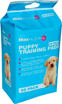 Max-Mittens-50-Pack-Puppy-Training-Pads on sale