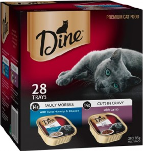 Dine-28-Pack-Cat-Food-Tray-Varieties-85g on sale
