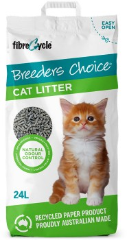 Breeders-Choice-Recycled-Paper-Cat-Litter-24-Litre on sale