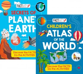 Secrets-of-Planet-Earth-and-Childrens-Atlas-of-the-World on sale