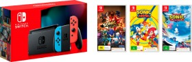 Nintendo-Switch-Neon-Console-Choice-of-One-Game-Sonic-Forces-Sonic-Mania-or-Team-Sonic-Racing on sale