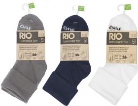 NEW-Rio-Kids-5-Pack-Organic-Cotton-School-Socks on sale