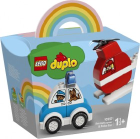 LEGO-Duplo-My-First-Fire-Helicopter-Police-Car-10957 on sale
