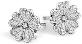 NEW-Stud-Earrings-with-0.12-Carat-of-Diamonds-in-Sterling-Silver on sale