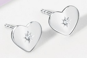 NEW-Stud-Earrings-with-Cubic-Zirconia-in-Sterling-Silver on sale