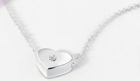 Heart-Necklace-with-Cubic-Zirconia-in-Sterling-Silver on sale