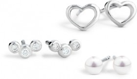 NEW-Earring-Set-with-Cultured-Freshwater-Pearl-Cubic-Zirconia-in-Sterling-Silver on sale