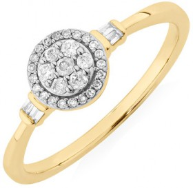 Evermore-Promise-Ring-with-0.15-Carat-TW-of-Diamonds-in-10ct-Yellow-Gold on sale