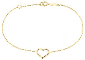19cm-7.5-Heart-Bracelet-in-10ct-Yellow-Gold on sale