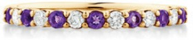 NEW-Ring-with-Natural-Amethyst-0.15-Carat-in-10ct-Yellow-Gold on sale