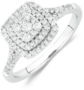 Engagement-Ring-with-12-Carat-TW-of-Diamonds-in-10ct-White-Gold on sale