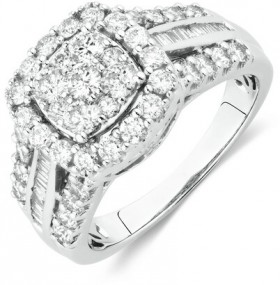 Engagement-Ring-with-1-12-Carat-TW-of-Diamonds-in-10ct-White-Gold on sale