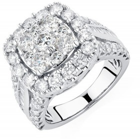 Engagement-Ring-with-4-Carat-TW-of-Diamonds-in-14ct-White-Gold on sale