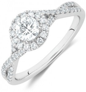 Engagement-Ring-with-0.70-Carat-TW-of-Diamonds-in-14ct-White-Gold on sale