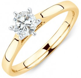 Solitaire-Engagement-Ring-With-a-12-Carat-TW-Diamond-in-14ct-Yellow-White-Gold on sale