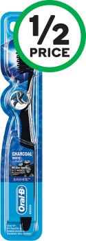 Oral-B-Cross-Action-Charcoal-Toothbrush-Pk-1 on sale