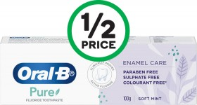 Oral-B-Pure-Enamel-Care-Fluoride-Soft-Mint-Toothpaste-100g on sale
