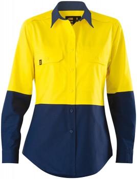 ELEVEN-Womens-AEROCOOL-Hi-Vis-Spliced-LS-Shirt on sale
