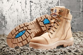 Steel-Blue-Southern-Cross-Zip-Sided-Lace-Up-Safety-Boots-with-Scuff-Cap on sale