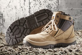 Mongrel-Boots-Zip-Sided-Lace-Up-Safety-Boots-Stone on sale