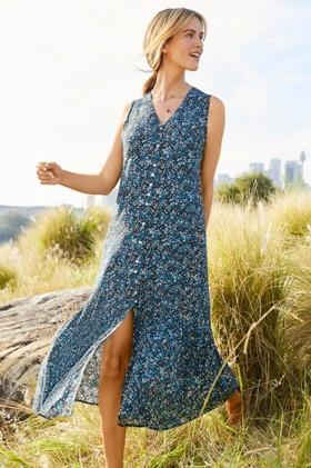 Emerge-Ruffle-Hem-Midi-Dress on sale