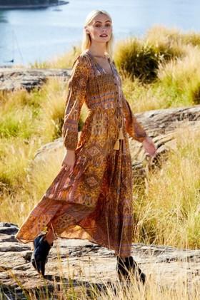 Emerge-Boho-Long-Sleeve-Maxi-Dress on sale