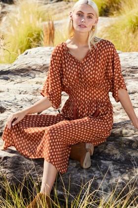 Emerge-Kimono-Sleeve-Midi-Dress on sale