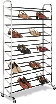 Whitmor-10-Tier-50-Pair-Shoe-Tower on sale