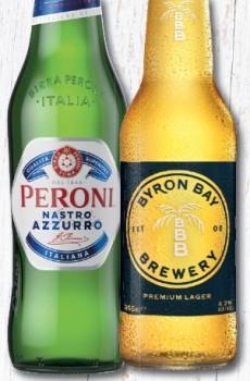 Peroni-Nastro-Azzurro-or-Byron-Bay-Premium-Lager-24-Pack on sale