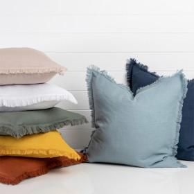 Sahara-Linen-Fringed-Cushion-by-M.U.S.E on sale