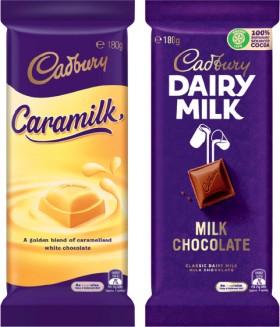 Cadbury-Chocolate-Block-160-190g-Selected-Varieties on sale