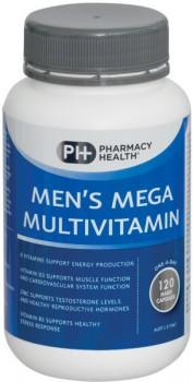 Pharmacy-Health-Mens-Mega-Multivitamin-120-Capsules on sale