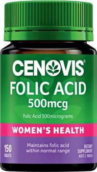 Cenovis-Womens-Folic-Acid-500mcg-150-Tablets on sale