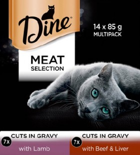 Dine-14-Pack-Cat-Food-Tray-Varieties-85g on sale