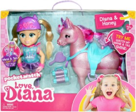 Love-Diana-Feature-Doll-and-Horse-Set on sale